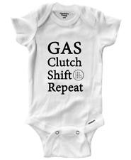 Infant Gerber Onesies Bodysuit Clothes Romper Newborn Gas Clutch Shift Auto Race