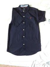 Nautica Boy's Dress Button Front Short Sleeve Shirt 100% Cotton Size 14/16 New
