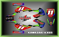 Kawasaki KX65 RM665 KLX110  SEMI CUSTOM GRAPHICS KIT