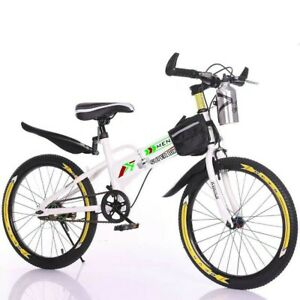 BMX Bike White 20-inch Single Speed Steel Frame Kids Bicycle Fun Freestyle Boys