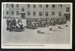 THIRD REICH WW2 ORIGINAL POSTCARD UNSER WEHRMACHT - SMALL GUN INFINTARY