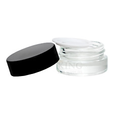 5mL Clear Glass Jar Concentrate Container Screw Top Lid Cosmetic Make Up Oil Wax
