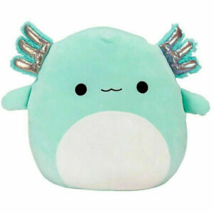 Stuffed Plush Axolotl Teal Green Anastasia Doll Toys Gift Kid Soft Squishmallow0