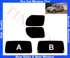 Pre-Cut Window Tint Suzuki Jimny 3D 1998-2010 Rear Window & Rear Sides Any Shade