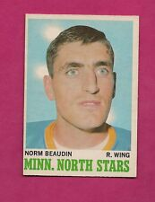 1970-71 OPC  # 48 NORTH STARS NORM BEAUDIN ROOKIE EX-MT CARD (INV#6826)