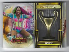 NAOMI 2020 TOPPS WWE ROAD TO WRESTLEMANIA BATTLE ROYAL TROPHY /25