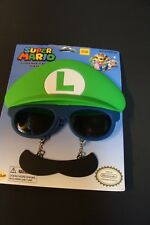 Sunstaches Officially Licensed Nintendo Luigi Mustache, Sunglasses Free Shipping