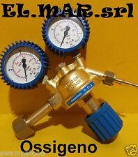 Riduttore di pressione OSSIGENO in ottone con manometro gas compresso