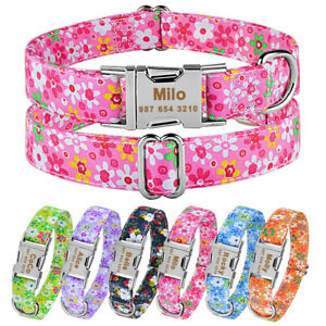 Extra Large Medium Small Personalized Dog Collar Custom Engraved Pets Dogs Name
