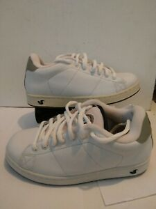DVS Revival White Leather Men's 7.5 Leather Skate Shoes