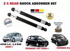 FOR TOYOTA AYGO 1.0 1.4 D4D 2005-> NEW 2 X REAR SHOCK ABSORBER SHOCKER SET