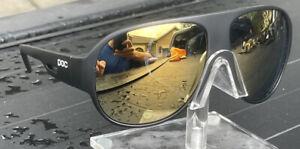 POC Nivalis Blade Sunglasses - Cycling Matte Black Gold Mirror Lens