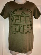 CANVAS BELLA Olive Army Green Happy Camper Camp Tennessee TN Tee T shirt Top XS