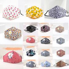 Ladies Floral Face Mask Washable UK Reusable Girl Leopard Dust Shield Protection