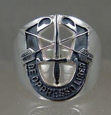 US Army Sterling Ring Jewelry Special Forces Mens DE OPPRESSO LIBER SIZE 10