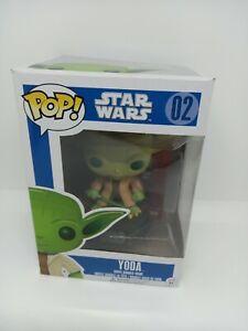 Funko Pop! Yoda 02 Star Wars vinyl figure  Blue Box Damaged See Photos