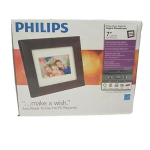 Philips SPF3470T/G7 7 Inch Digital Photo Frame LCD Panel Brown Wood Frame NEW