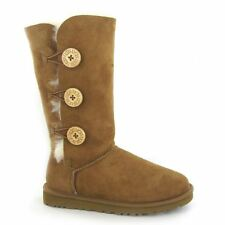 Buckle Suede Standard Width (B) Casual Boots for Women