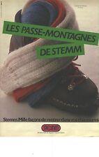 """PUBLICITE ADVERTISING  STEMM  chaussettes """" le passe- montagne des stemm"""""""