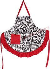 Zebra Apron Red Adult Smock Ladies Women