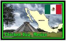 CHICHEN  ITZA (MEXICO) - SOUVENIR NOVELTY FRIDGE MAGNET - SIGHTS / FLAG / GIFTS