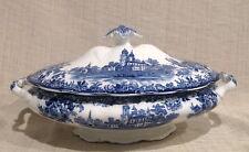 Winkle Togo Flow Blue Oval Covered Vegetable Bowl