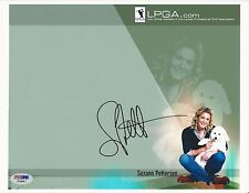 Suzann Petersen Lpga Golf signed 8x10 photo Psa/Dna #E19441