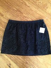 Moschino Cheap And Chic Aeffe Spa Black Eyelet Skirt Size 44 / 10 Nwt $445.00
