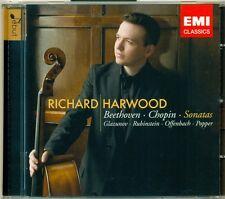 "RICHARD HARWOOD ""Beethoven, Chopin, Rubenstein, Offenbach Sonatas"" CD, Neu!"