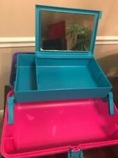 RARE Vintage caboodles with mirror 15x7x7 cosmetics organizer Hard Plastic