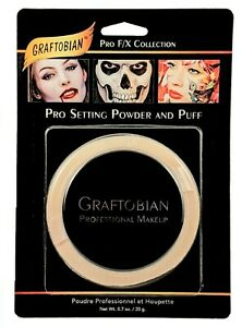 GRAFTOBIAN_PRO SETTING POWDER W/PUFF_TRANSLUCENT,CLOWN WHITE,SKIN LT,DK PICK ANY