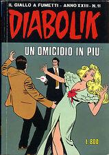 fumetto DIABOLIK ANNO XXIII numero 11