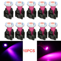 10X PC74 T5 LED Twist Socket Car Instrument Panel Cluster Plug Dash Light Bulb W