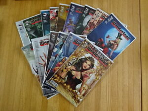 RARE LOT OF WONDERLAND #13-17 COMIC BOOKS! VARIANTS! ZENESCOPE!