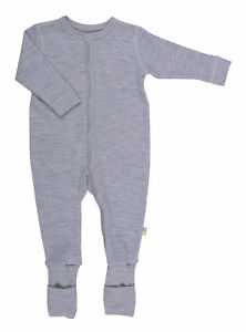 Joha Baby Unisex Schlafoverall reine Merinowolle Schlafstrampler Schlafanzug