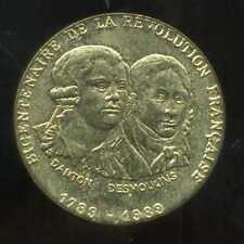bicentenaire de la revolution francaise  DANTON DESMOULIN 1789 - 1989