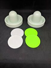 Air Hockey Mallets / pushers (Dynamo) with 4 small Pucks! regular / quiet