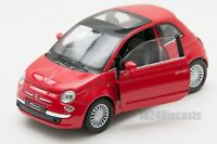 Fiat 500 red, Welly scale 1:34-39, model toy car gift