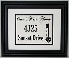 Housewarming Gift, Personalized Our First Home on Linen; Linen Sign, Linen Print