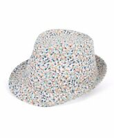 Women Spring Turquoise Floral Fedora Hat (H7884)