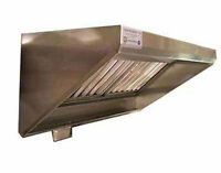 Superior Hoods 5 Ft Stainless Steel Concession Grease Hood - NSF - NFPA96