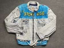 Vintage Levis Jacket Extra Large Too Cute Flintstones Denim Jeans 90s Adult