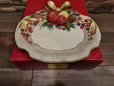 Fitz And Floyd Classic Winter Spice Canape Plate Christmas Fruit. Brand New