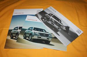 Toyota Land Cruiser V8 2008 Prospekt Brochure Depliant Prospetto Catalog Folder