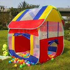 Pop Up Kids Play Tent Foldable Portable Pit Ball Pool Outdoor Indoor Baby Hut AU