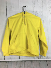 Under Armour Mens Yellow Rival Fleece Hoodie Size Large Loose Fitting
