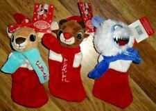 "Island Of Misfit Toys Plush 10"" Bumble Rudolph Clarice Mini Christmas Stocking"