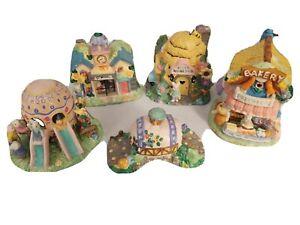 5 Hoppy Hollow Easter Buildings 2003 BZBee Honey,Bakery,School,Playground,Bridge