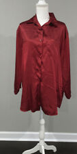 Victorias Secret Button Down Red Nightgown Satin Large Q33