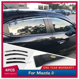 AUS Injection Weather Shields Weathershields Window Visor For Mazda 2 2014+ #S